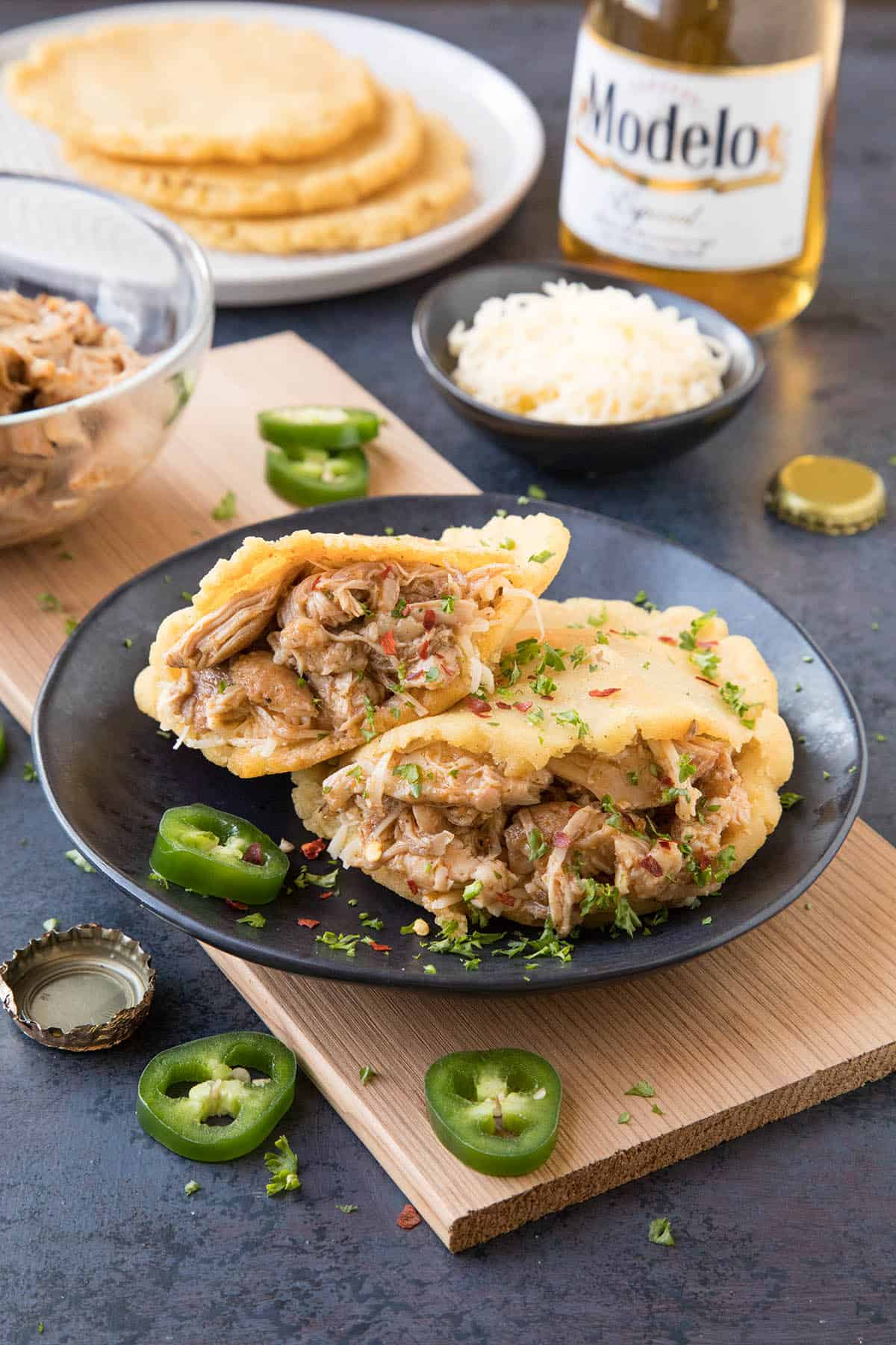 Pulled Chicken Gorditas Recipe - Stuffed with Delicious Pulled Chicken