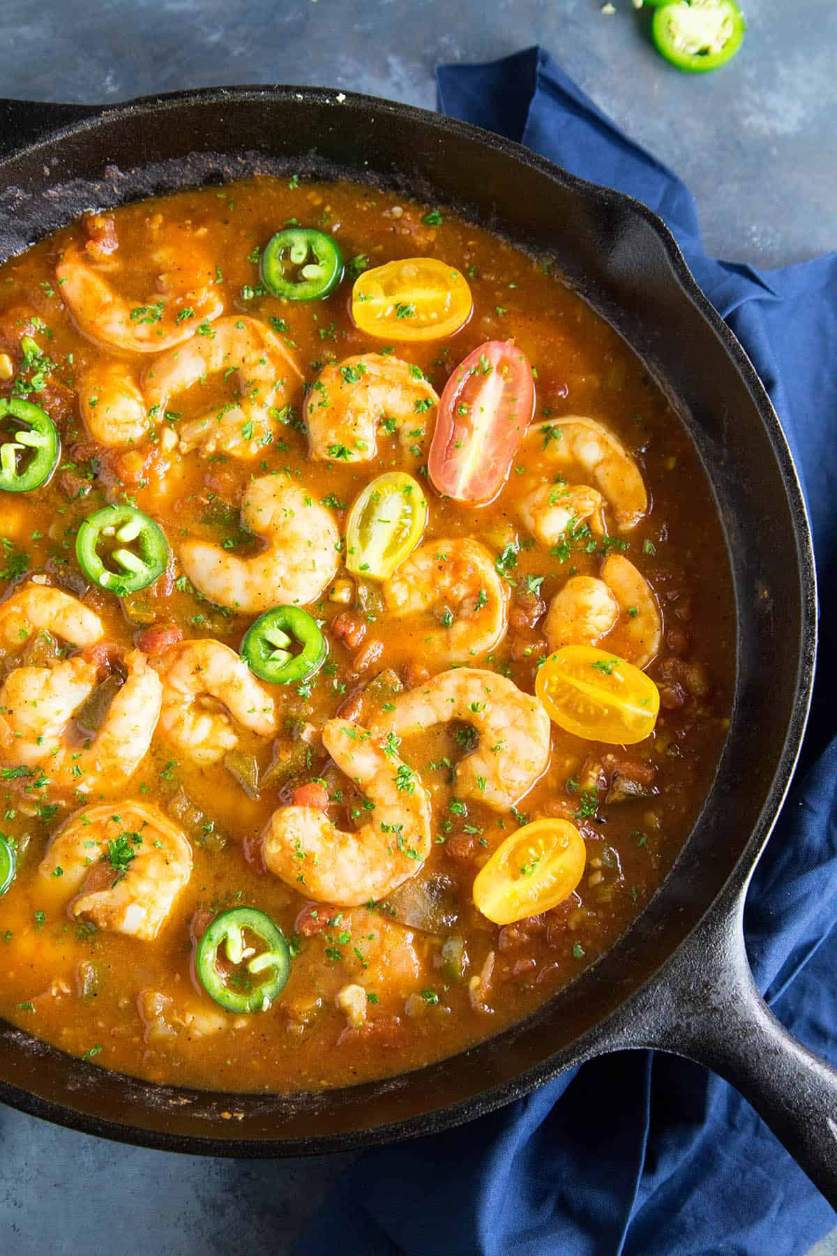 Shrimp Creole Recipe - Simmering and Ready to Eat