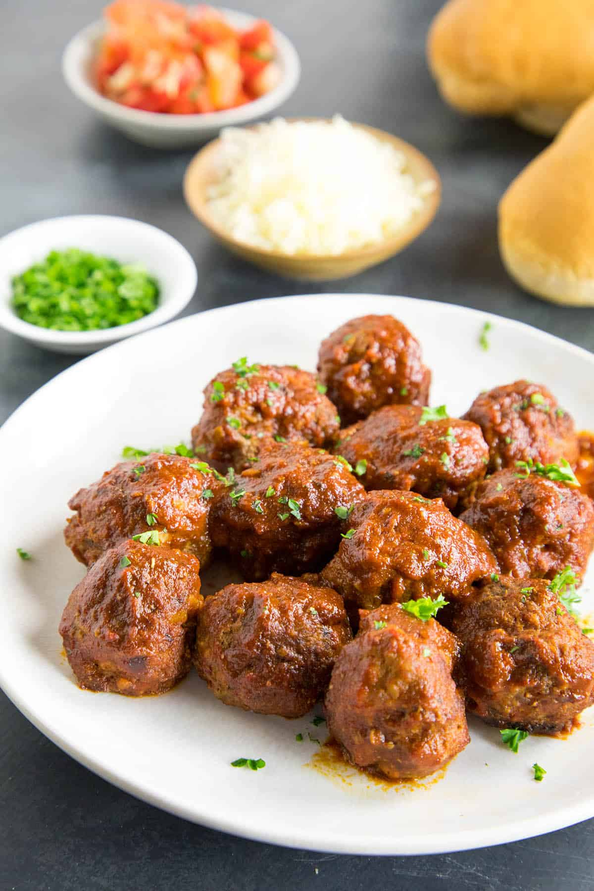 Spicy Meatballs in Chipotle-Lime Sauce