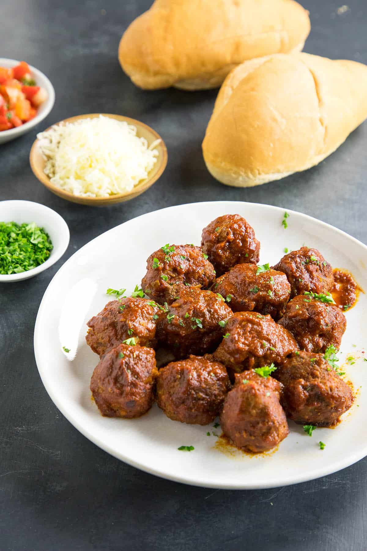 Spicy Meatballs Chipotle Lime Sauce Recipe - Serve them up on buns for a meatball sub sandwich.