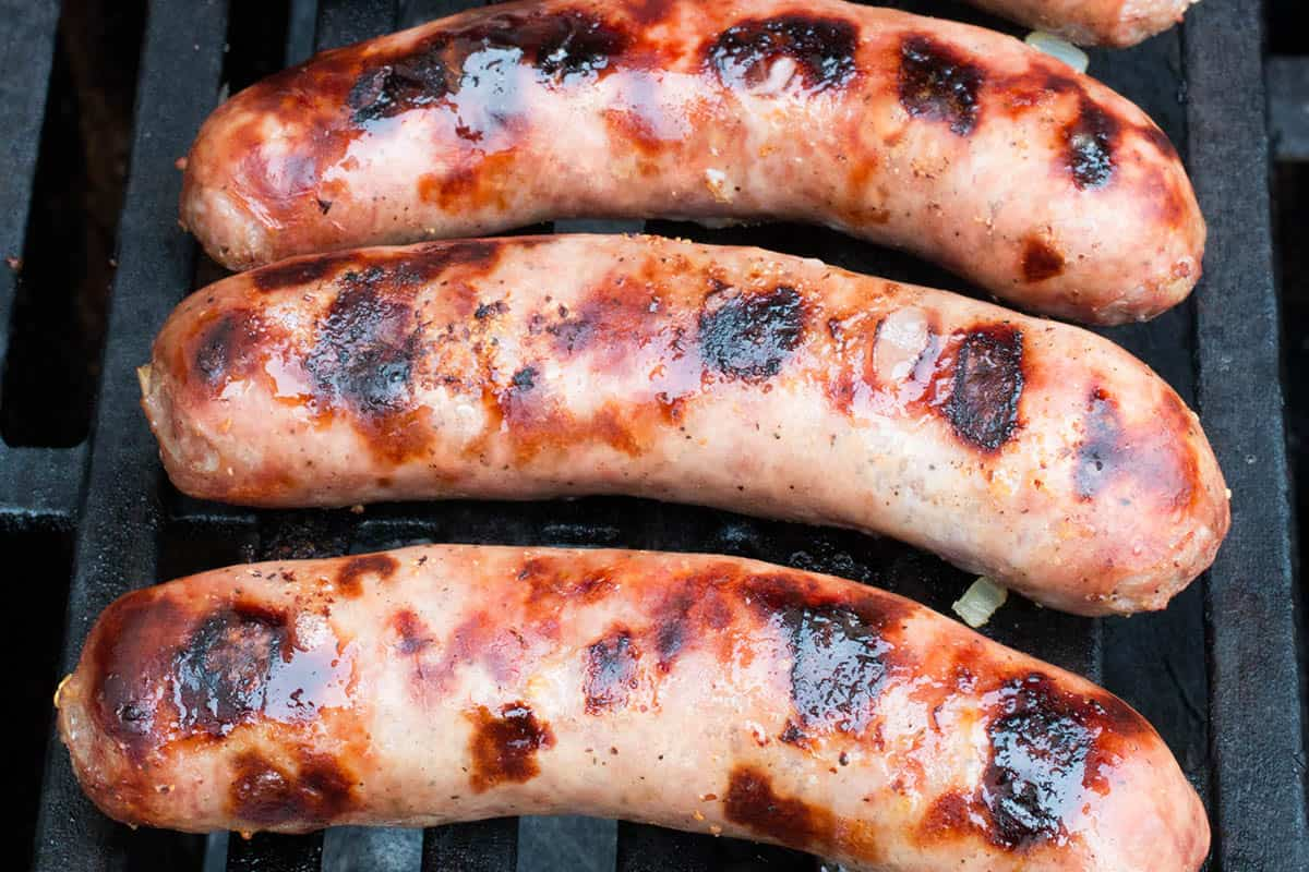 Finish your beer brats on the grill with a nice sear