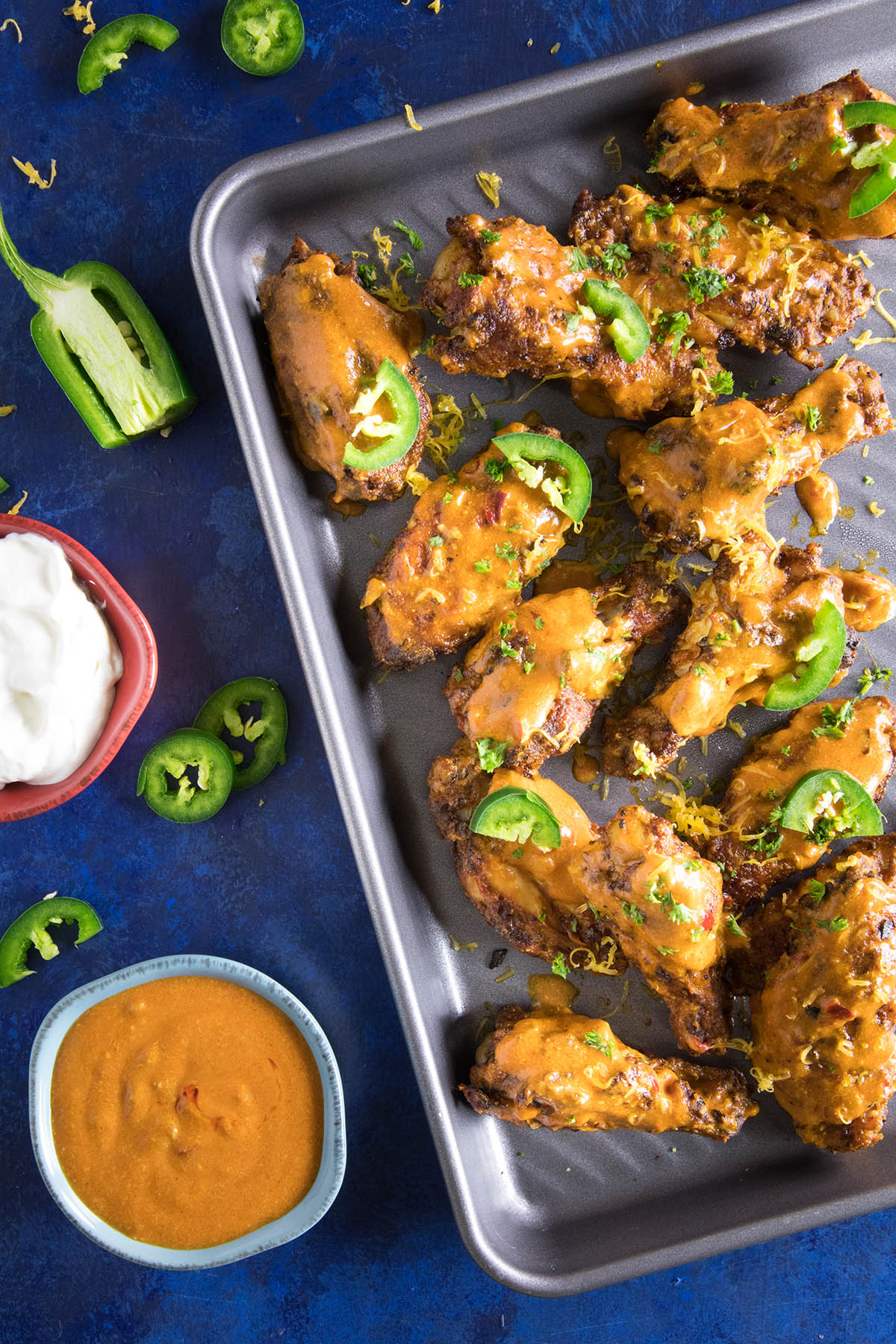 Jalapeno-Cheddar Chicken Wings
