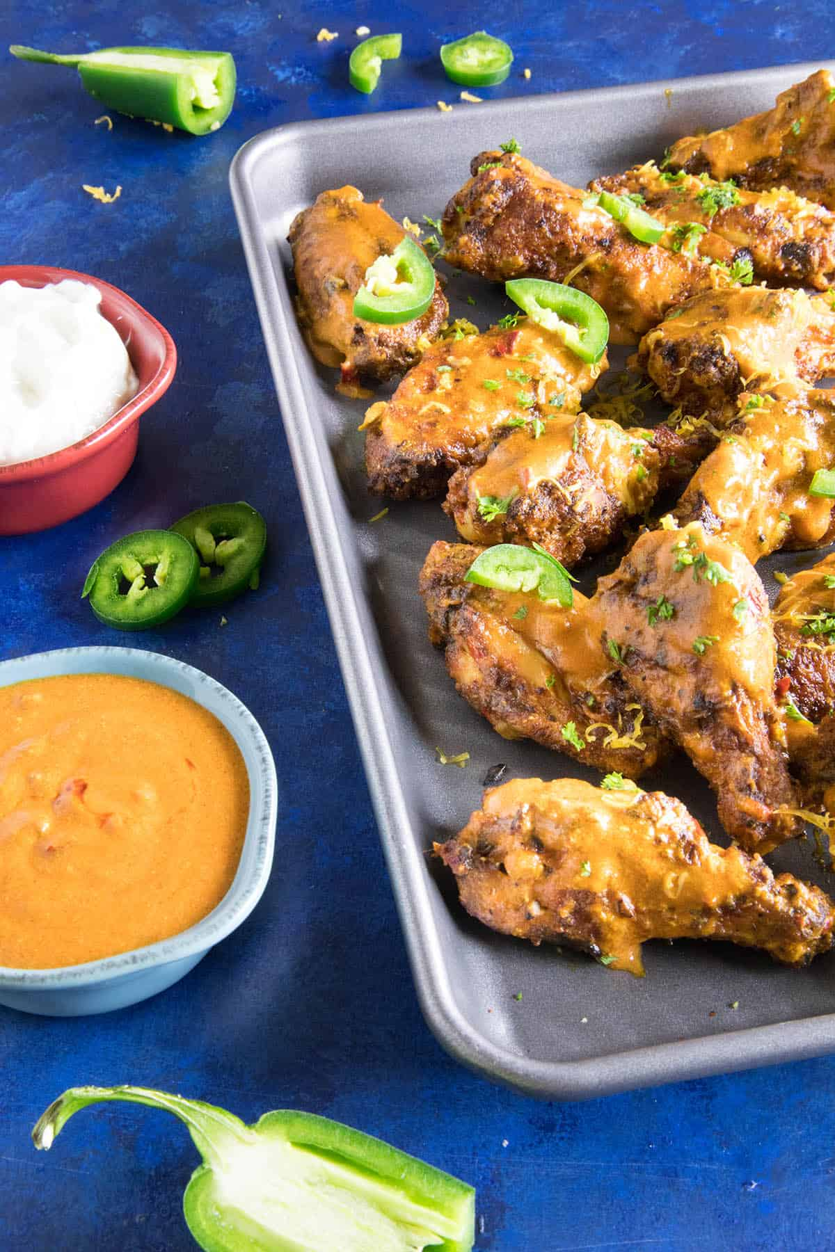 Jalapeno Cheddar Chicken Wings - Get the Recipe Below