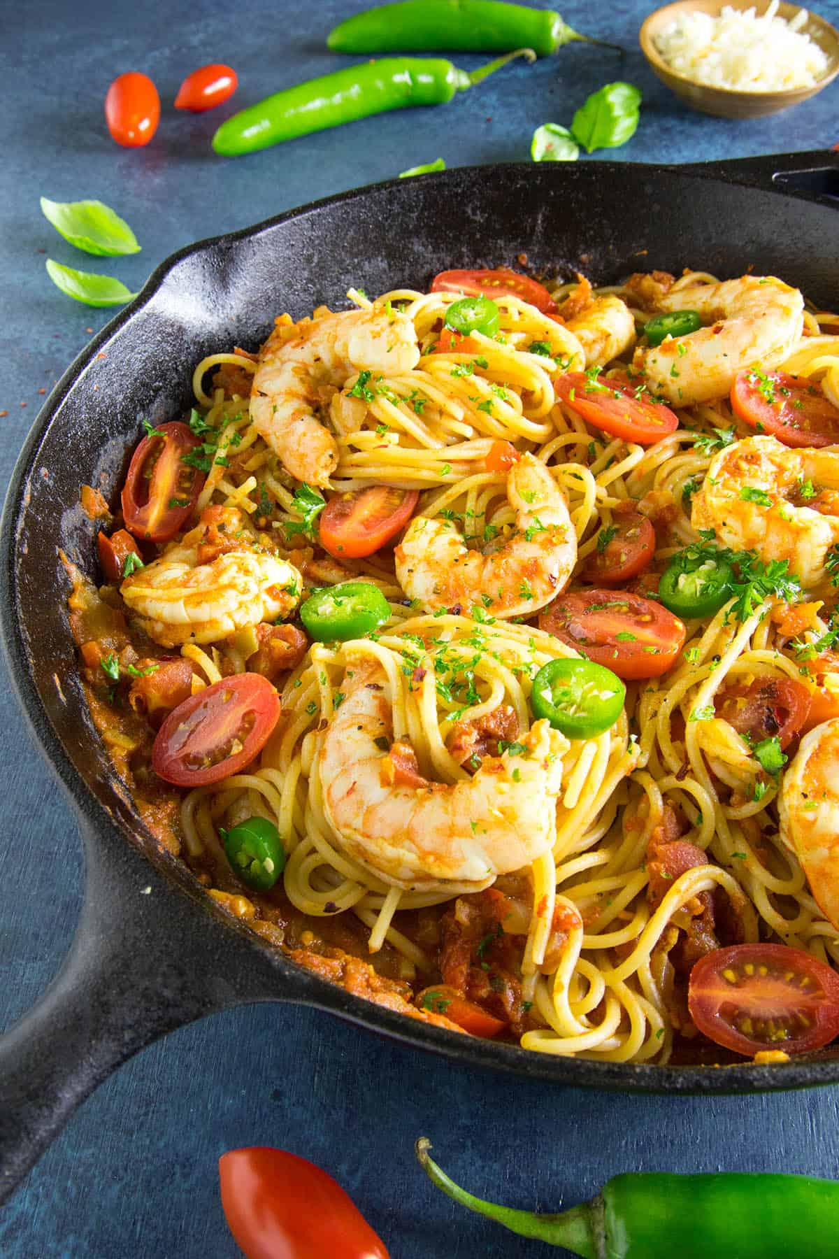 Cajun Shrimp Pasta with Red Sauce