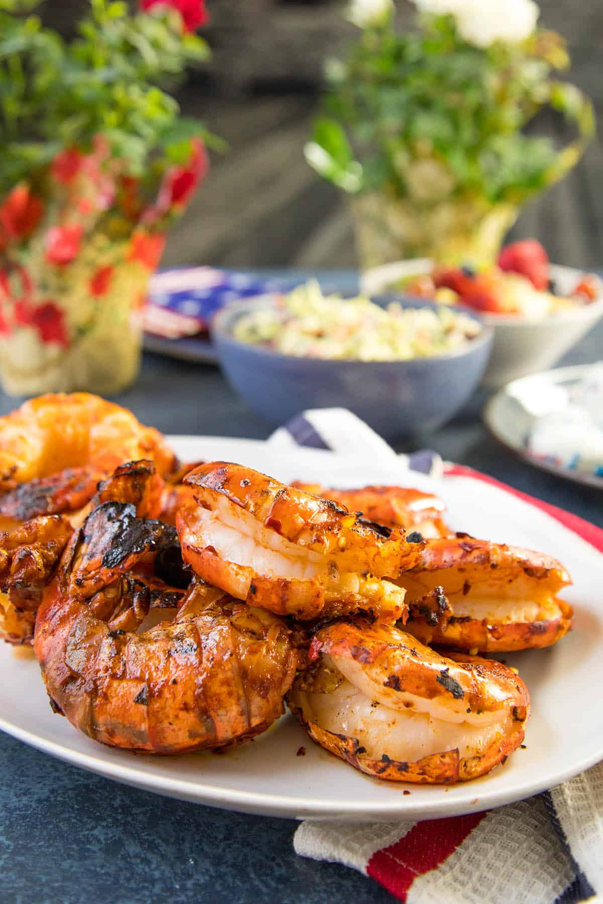Colossal Grilled Shrimp - Plated anColossal Grilled Shrimp - Plated and Ready for Your Dinnerd Ready for Your Dinner