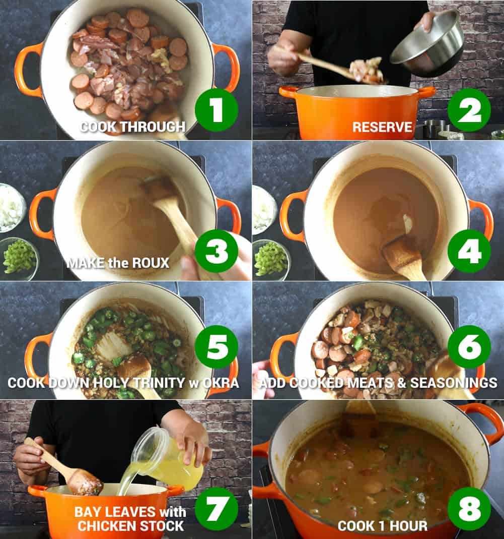 Making Gumbo - Basic Steps