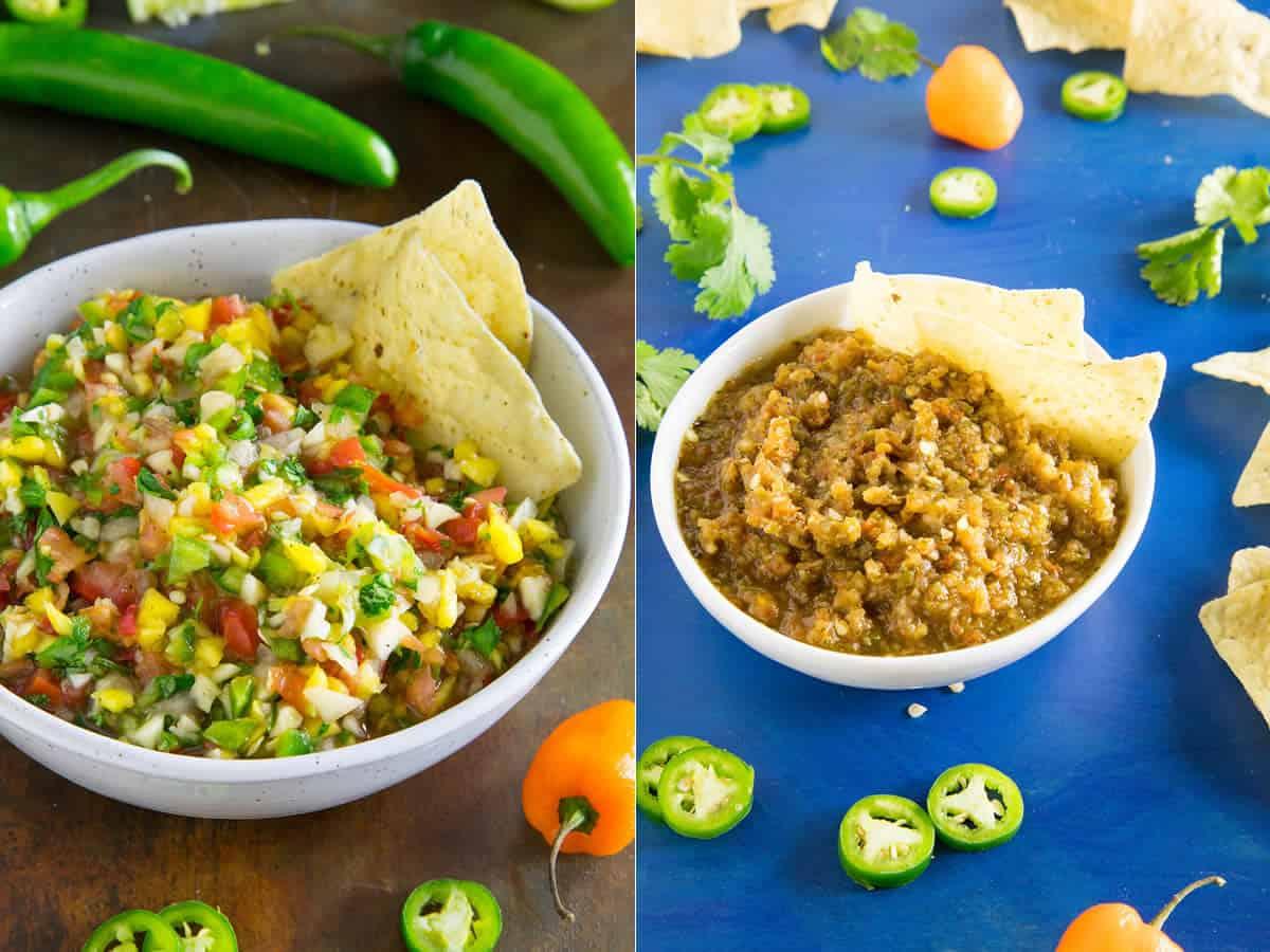 Mango-Habanero Salsas - 2 versions