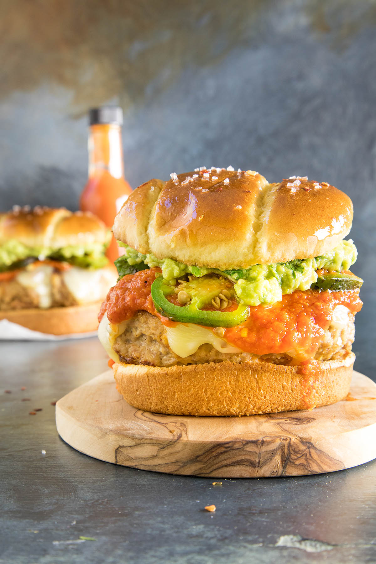 Guacamole Turkey Burgers - Dripping with Guacamole and Hot Sauce