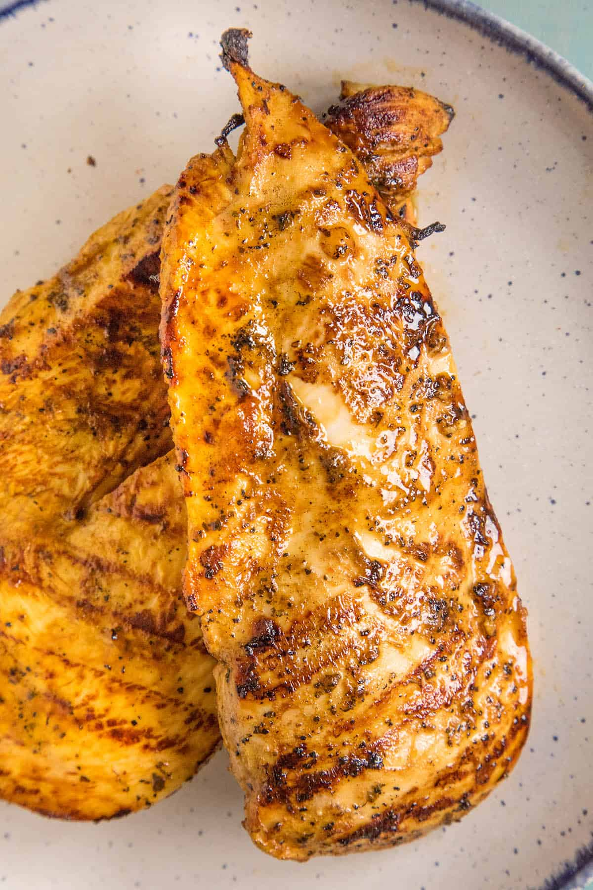 Juicy Chicken That's Been Grilled After Marinating in Our Spicy BBQ Chicken Marinade