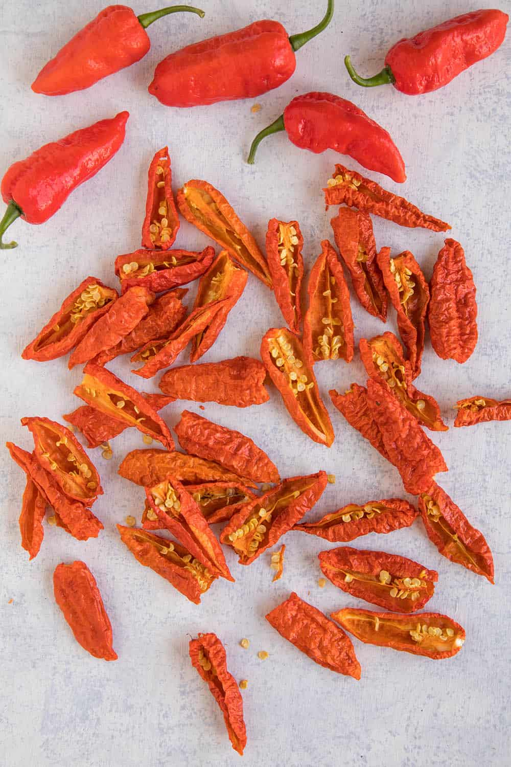 Dried Ghost Peppers