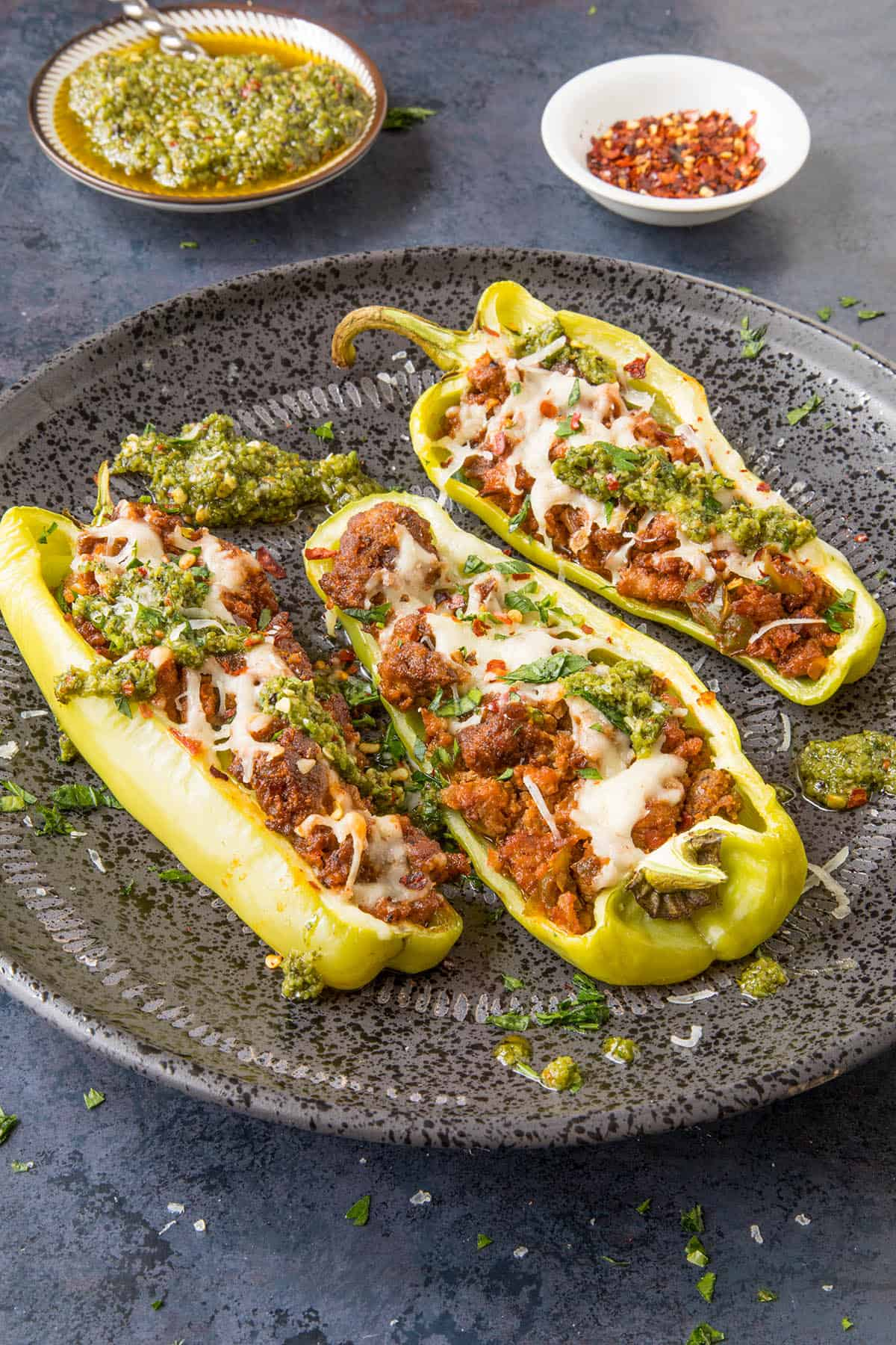 Turkey Stuffed Cubanelle Peppers