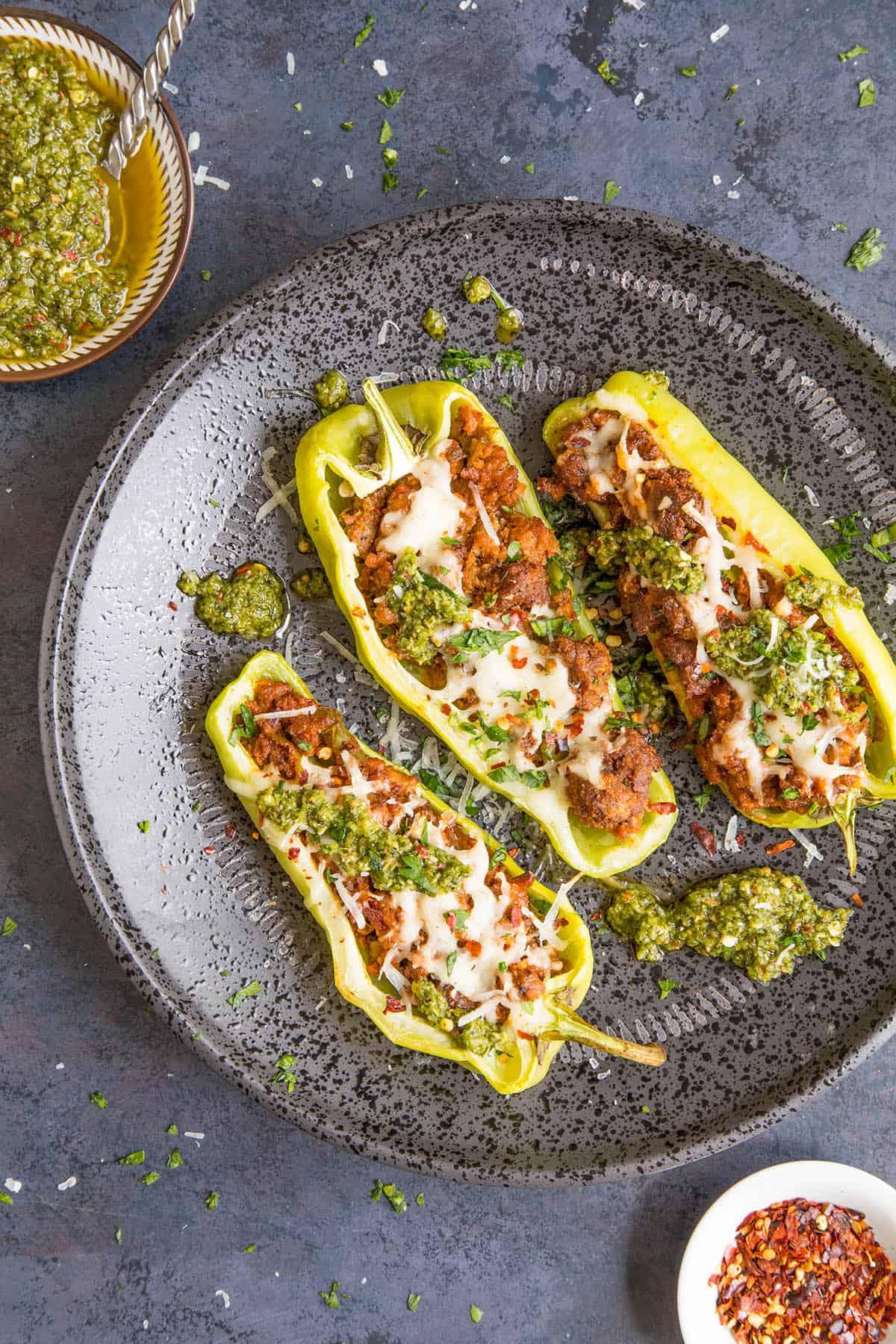 Turkey Stuffed Cubanelle Peppers - Ready to Eat!