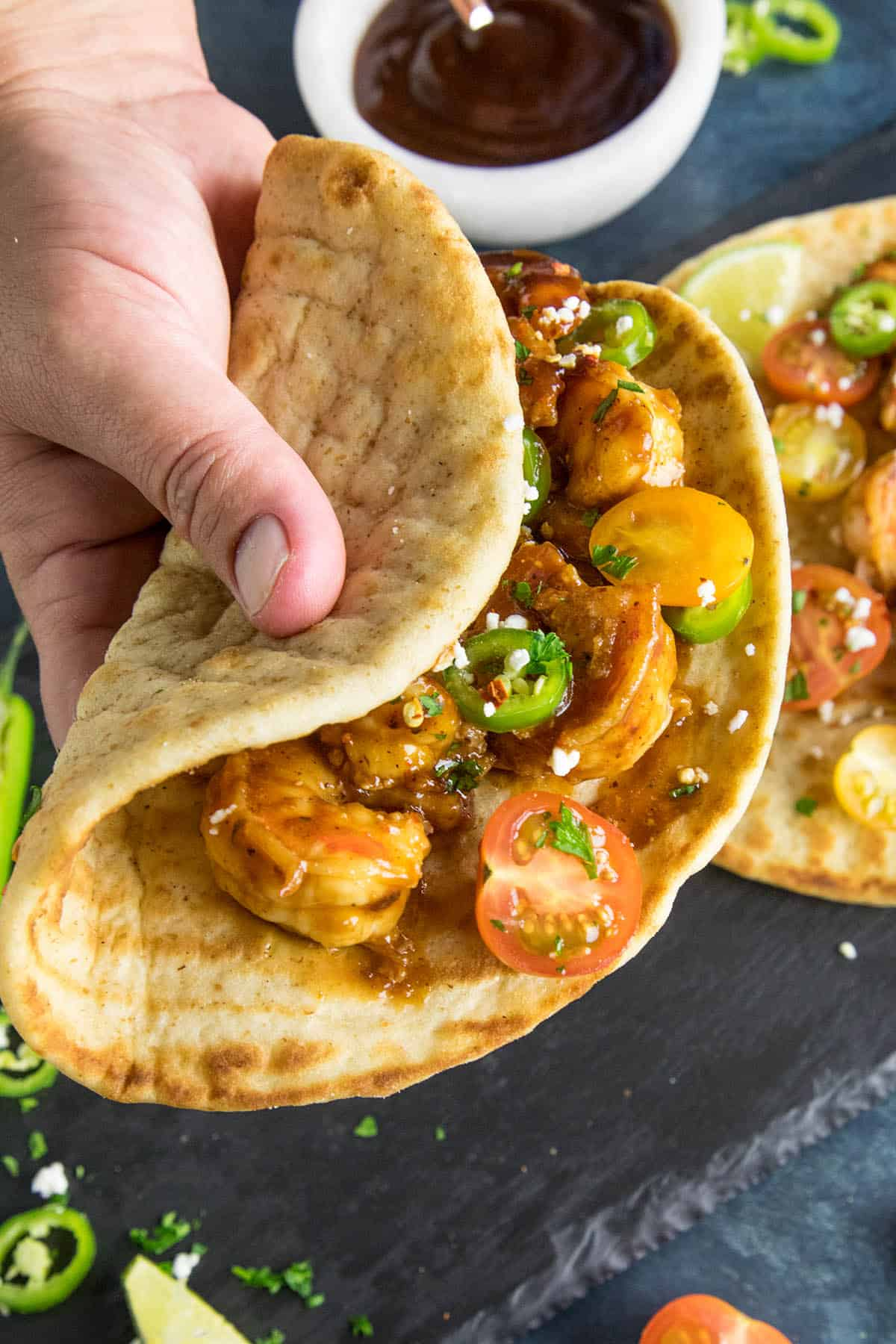 Barbecue Shrimp Flatbreads