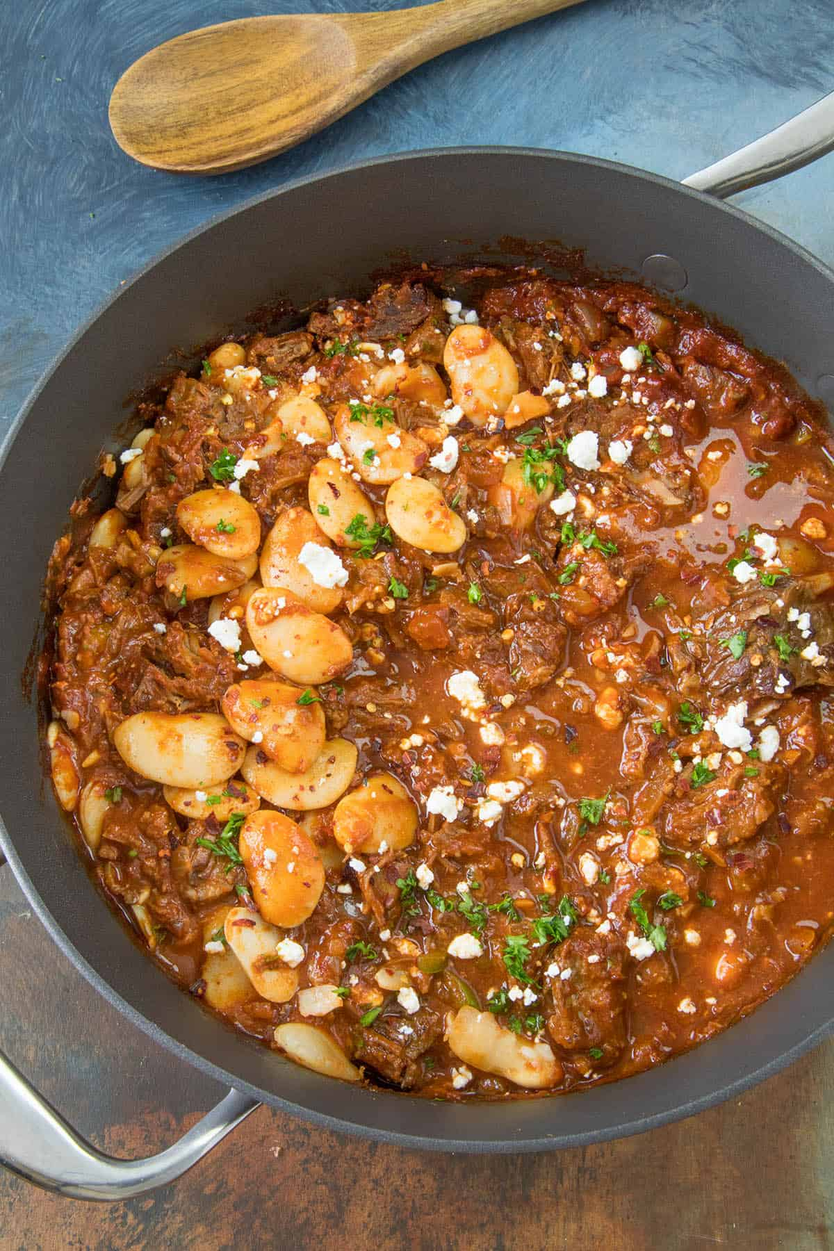 Chili Colorado - a version of the dish with beans