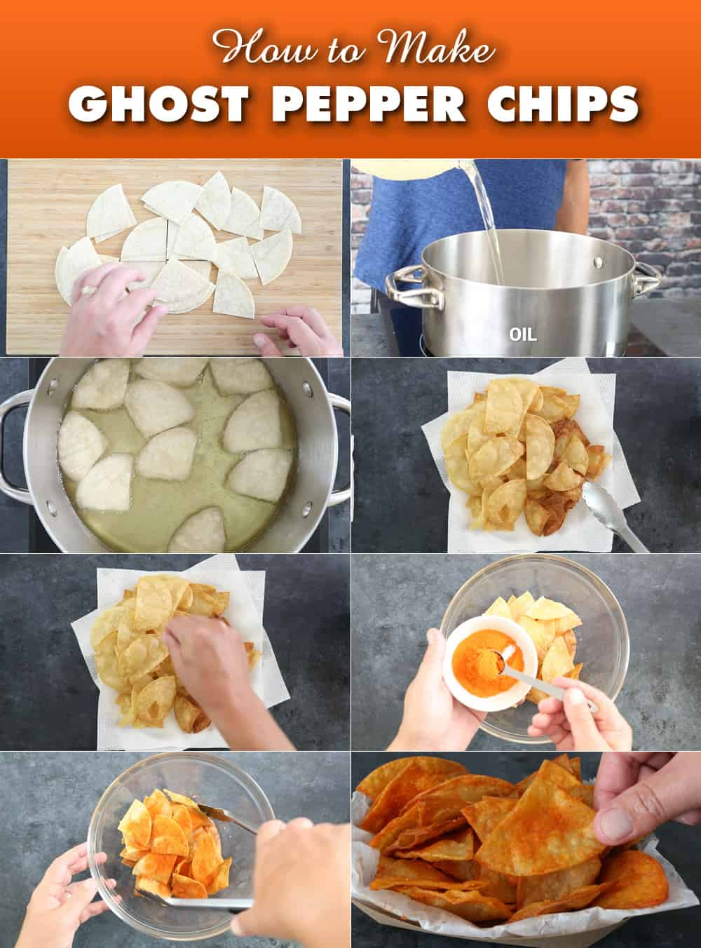 How to Make Ghost Pepper Chips