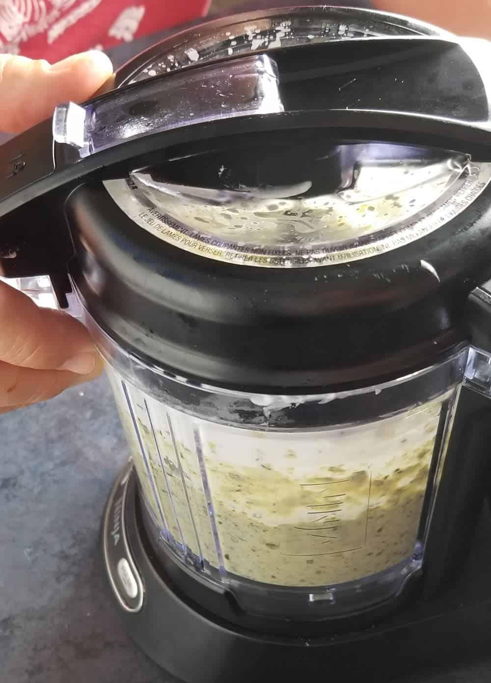 Processing the Poblano Cream Sauce