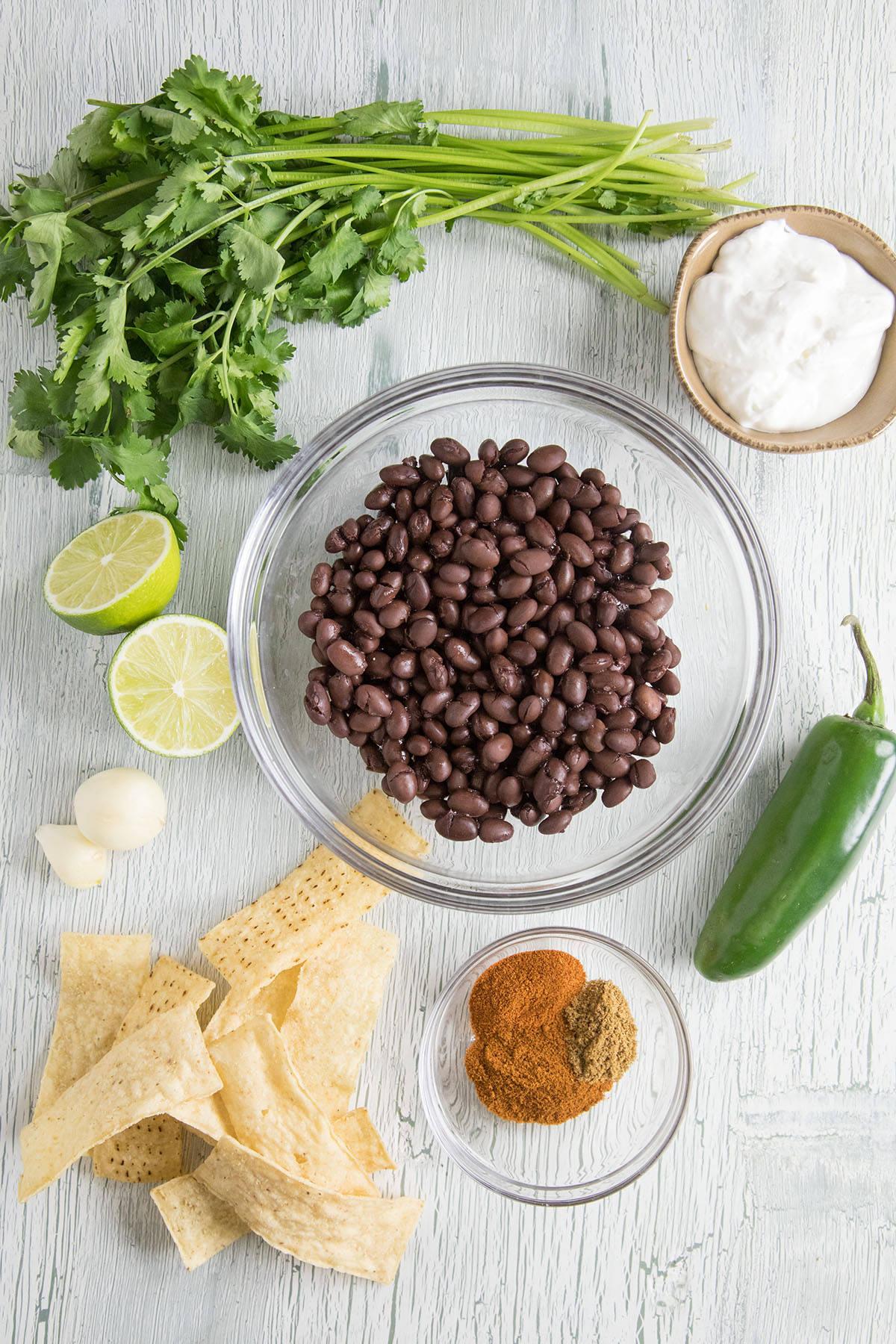 Black Bean Dip ingredients