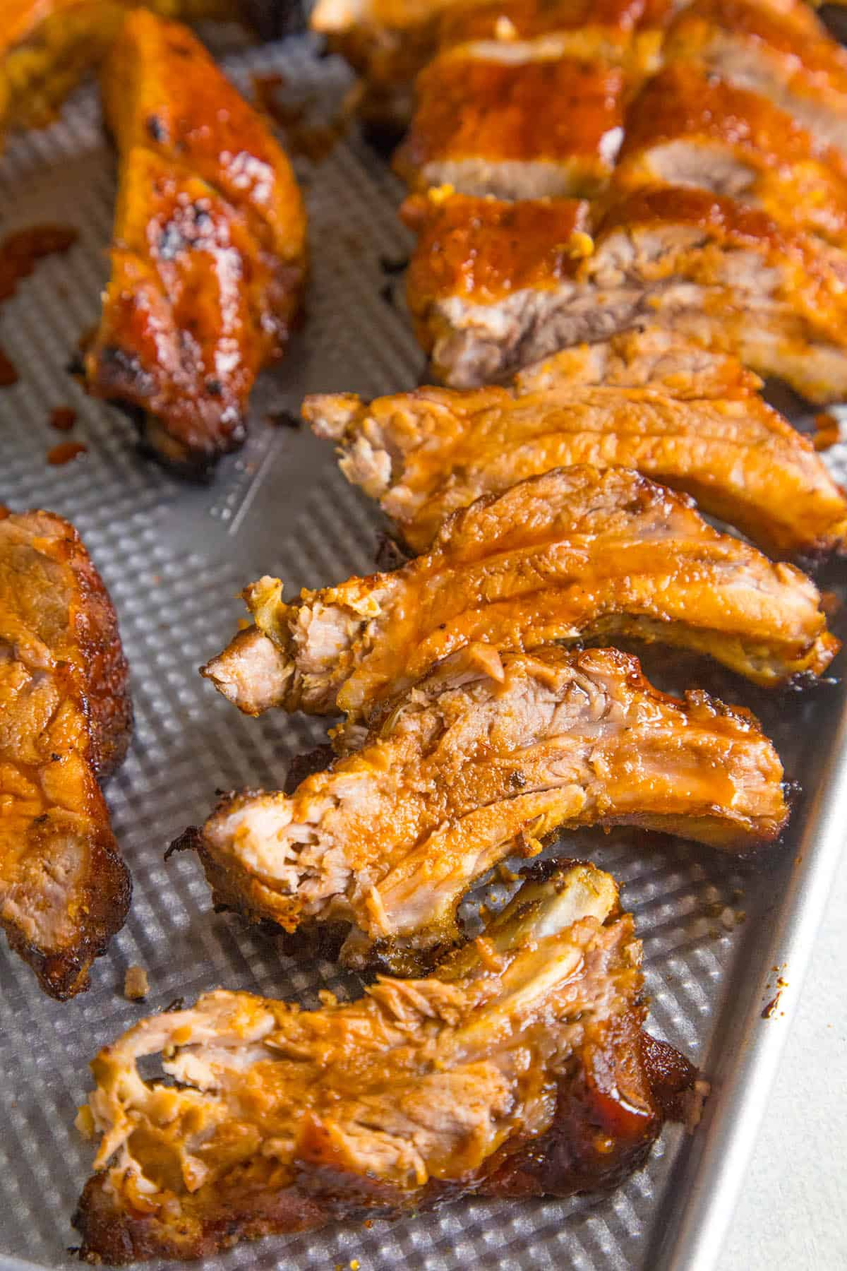 Oven Baked Ribs with Honey-Sriracha Glaze