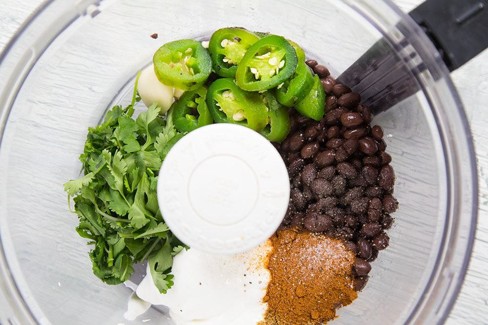Black Bean Dip in the food processor