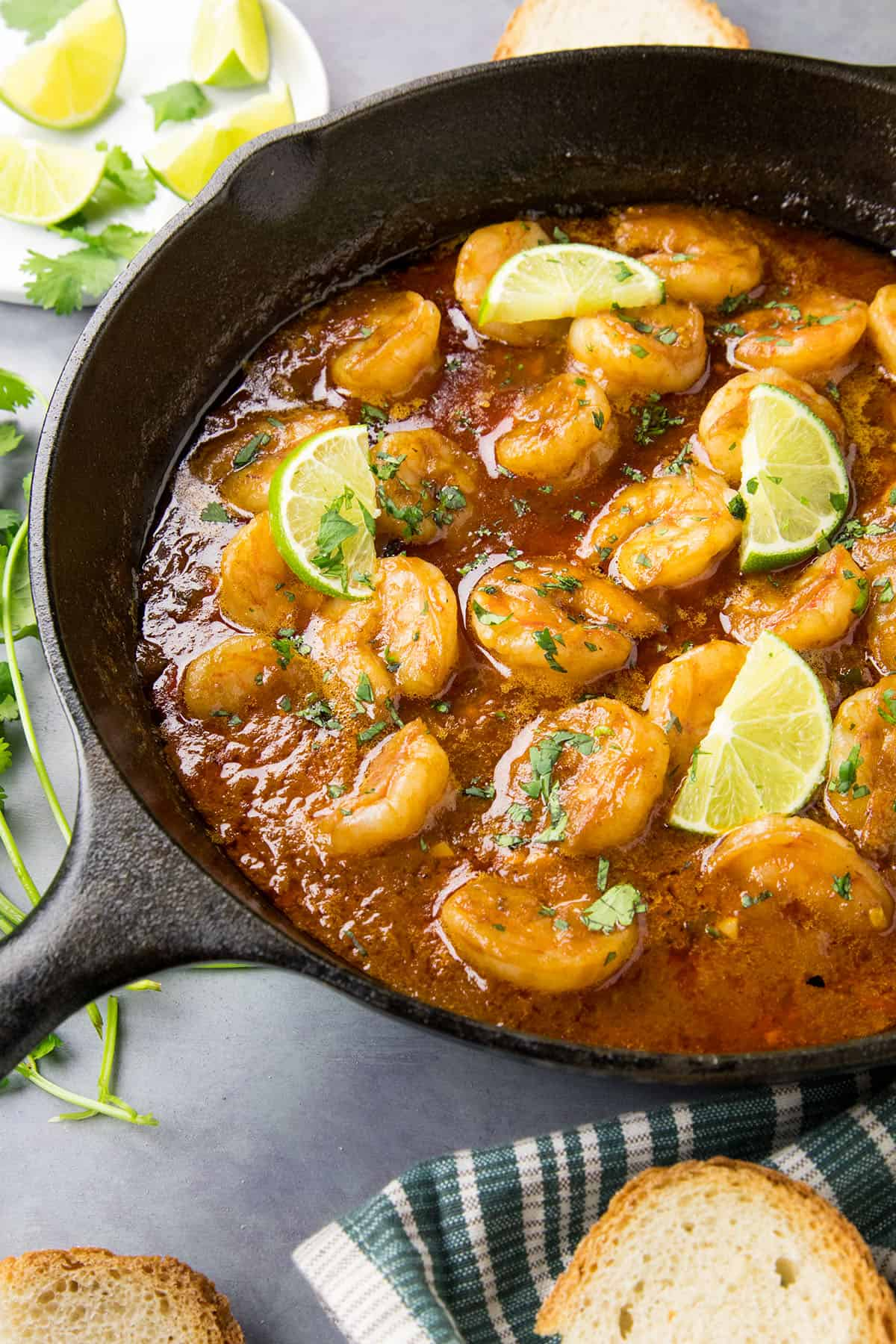 Shrimp in Fiery Chipotle-Tequila Sauce