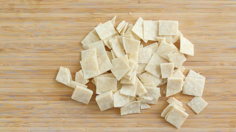 Sliced tortilla strips