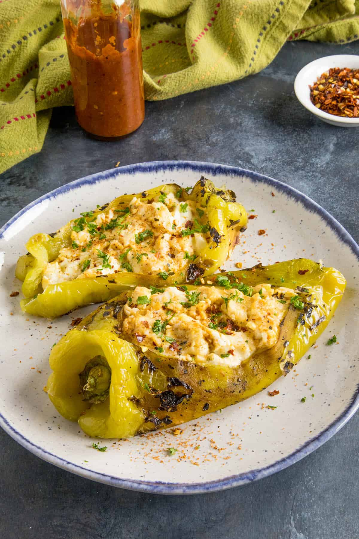 Cajun Cream Cheese Stuffed Anaheim Peppers