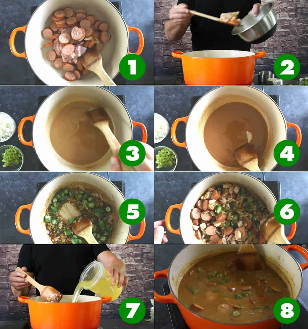 How to Make Gumbo - Cooking Steps