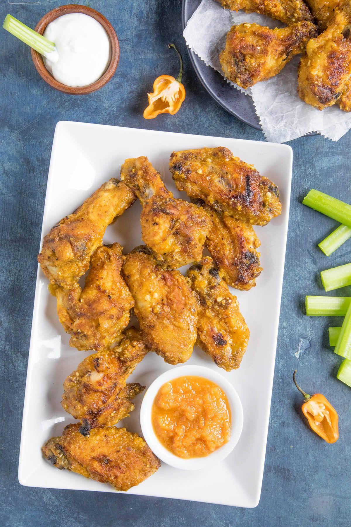 Mango Habanero Chicken Wings - ready to eat