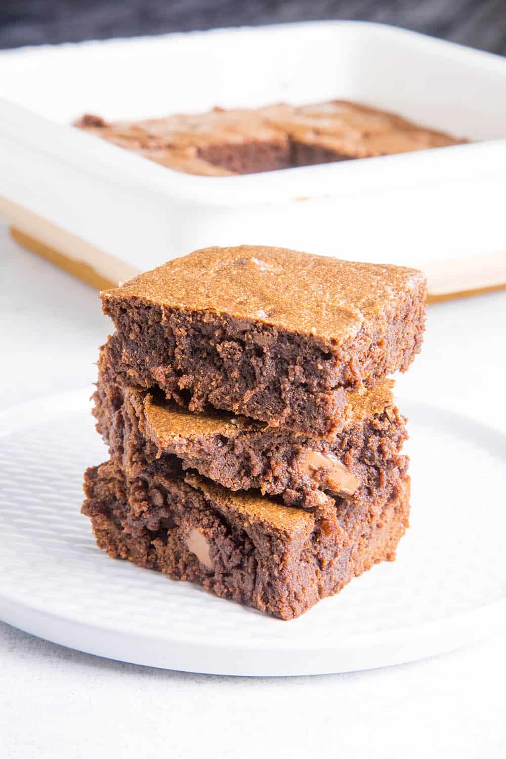 Mexican Brownies on a plate, ready to eat