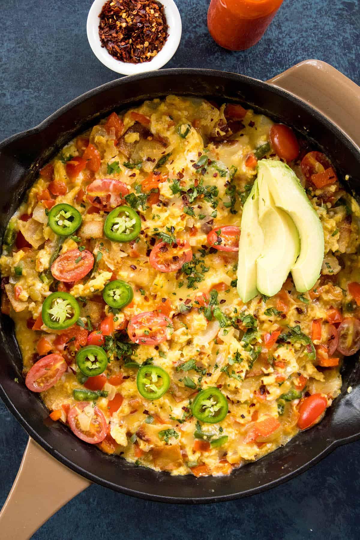 Migas: Scrambled Eggs with Crispy Tortillas – Recipe