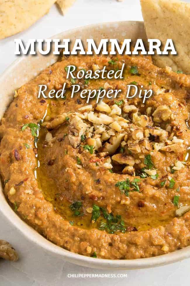 Muhammara (Roasted Red Pepper & Walnut Dip)