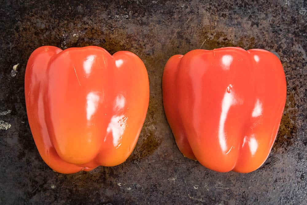 Red peppers for our Muhammara Dip