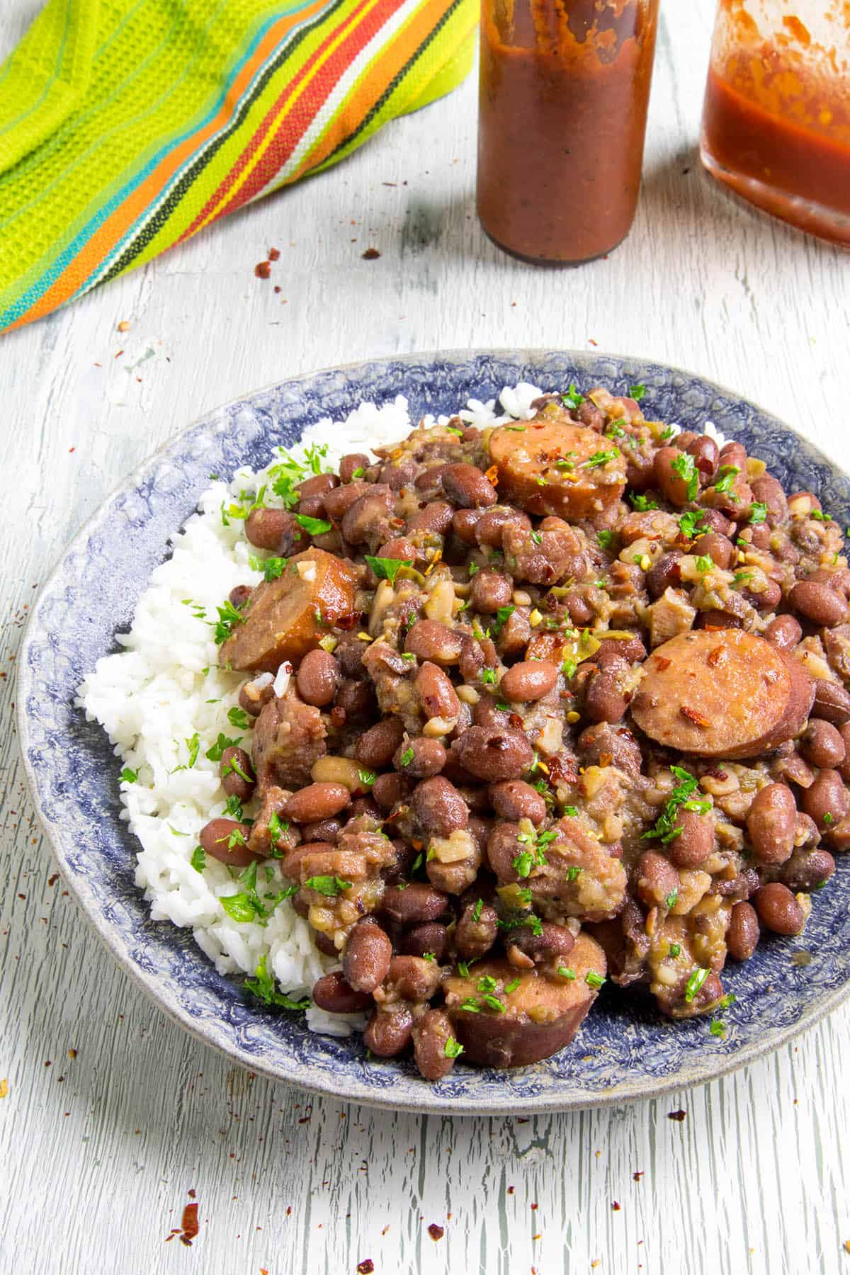 Red Beans and Rice - plated and ready to serve