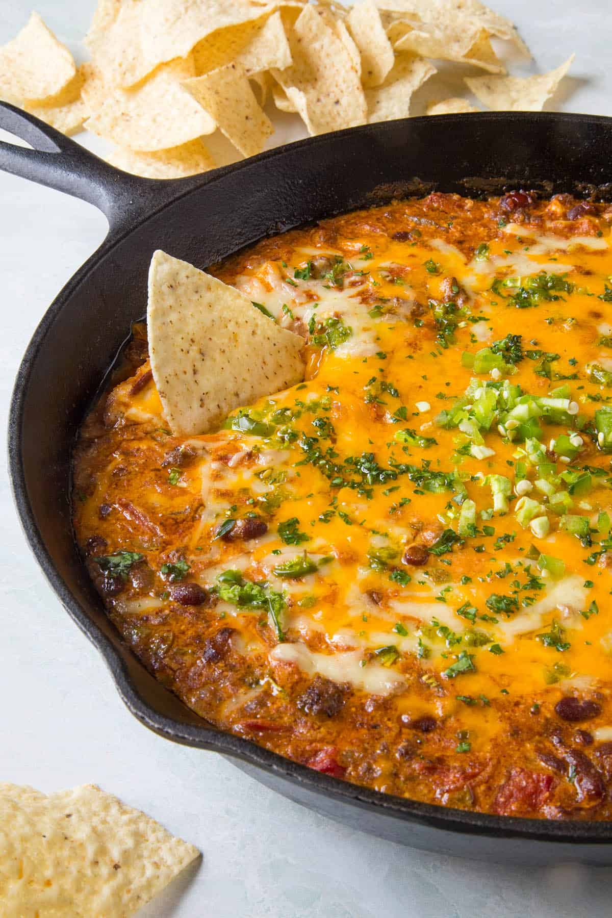 Meaty Chili Cheese Dip
