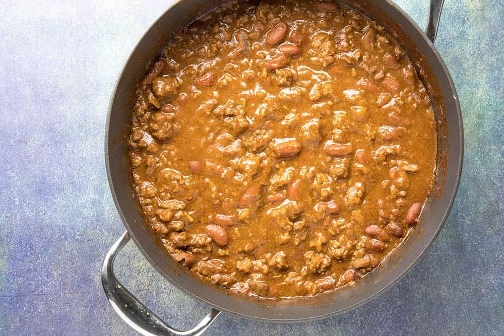 Cincinnati Chili in a pot