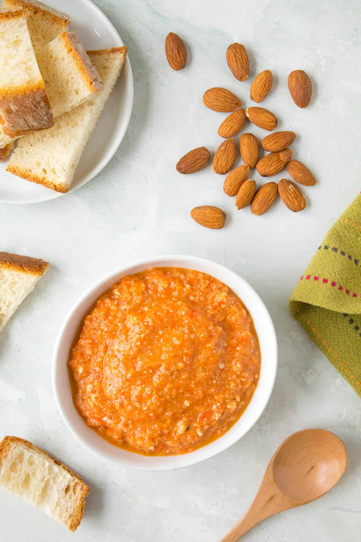Romesco Sauce - In a bowl, ready to serve