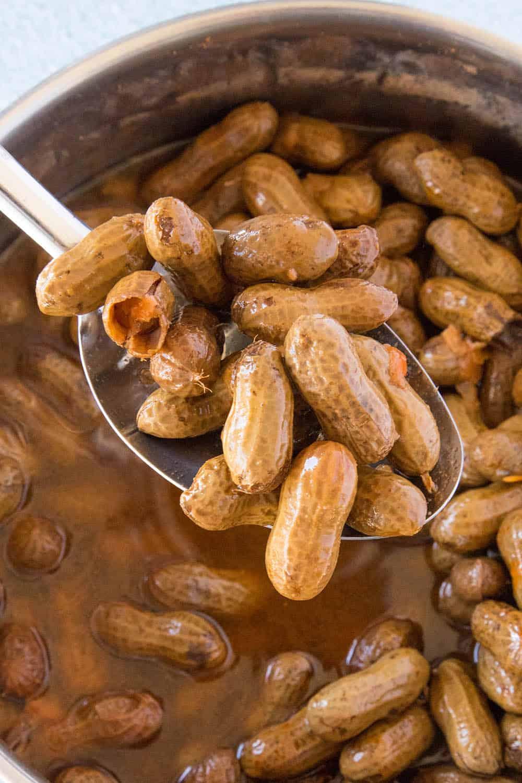 A Spoonful of Cajun Boiled Peanuts