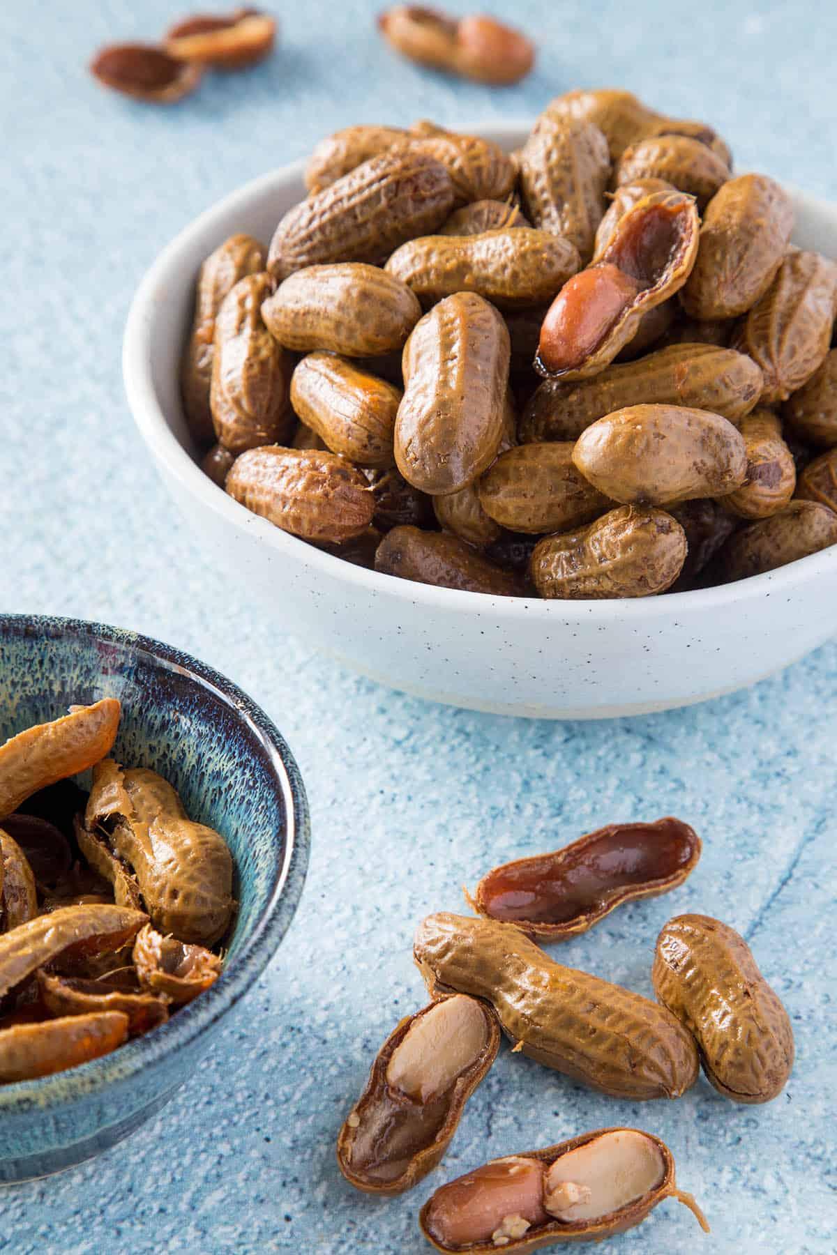 Cajun Boiled Peanuts in a bowl