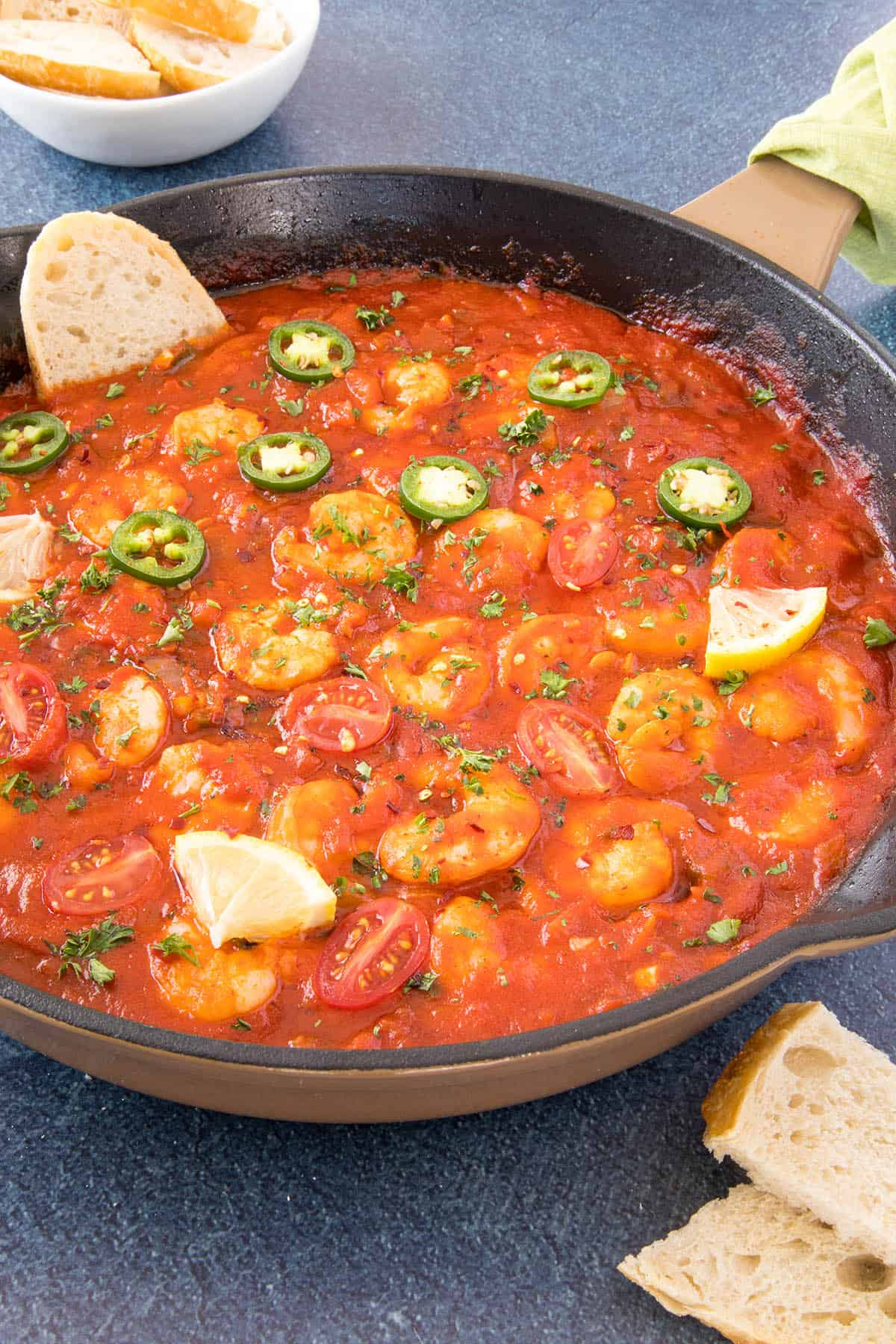 Spicy Cajun Shrimp - In a pan
