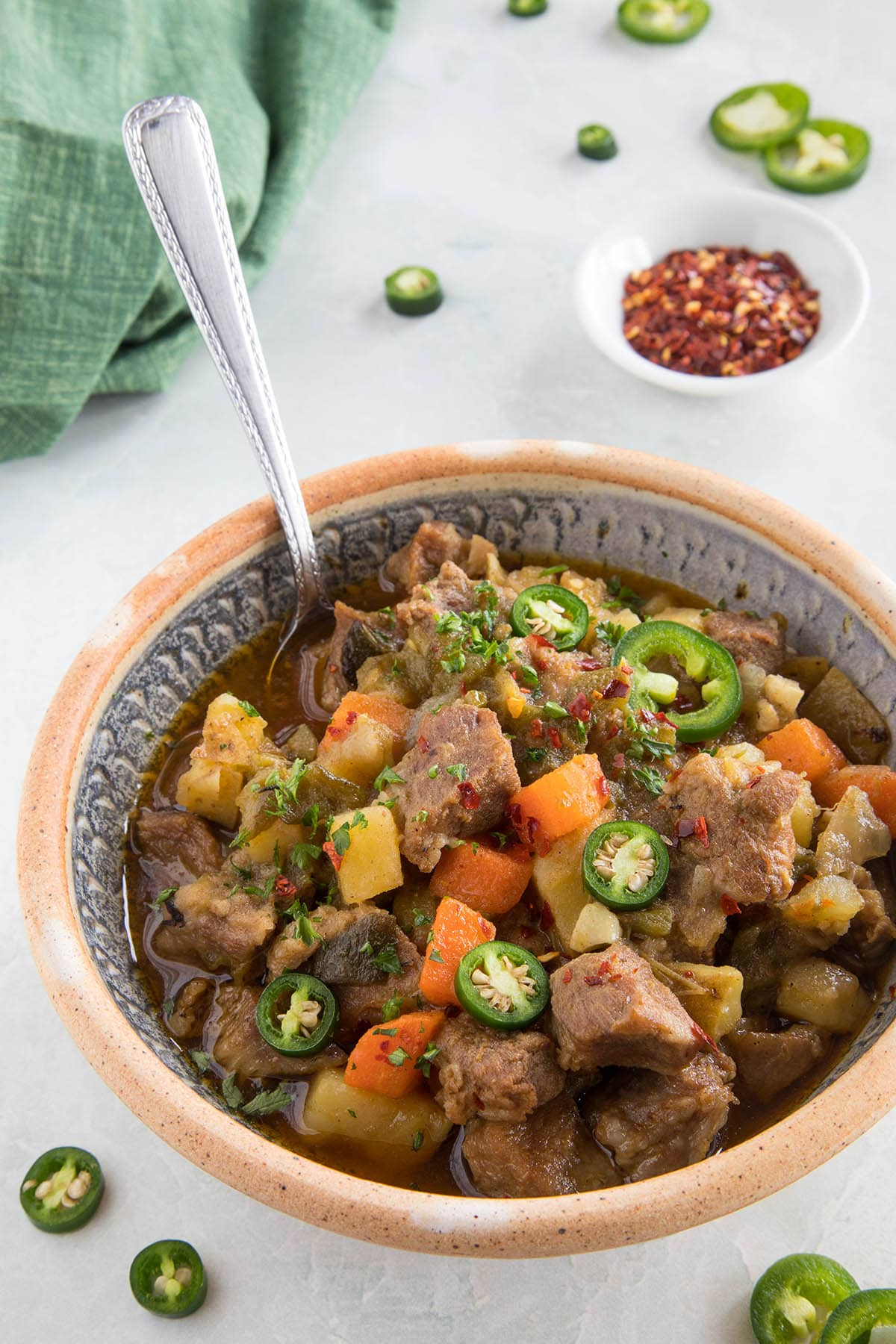 Green Chili Stew with Pork