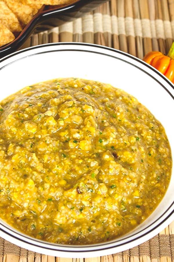 Roasted Corn-Habanero Salsa