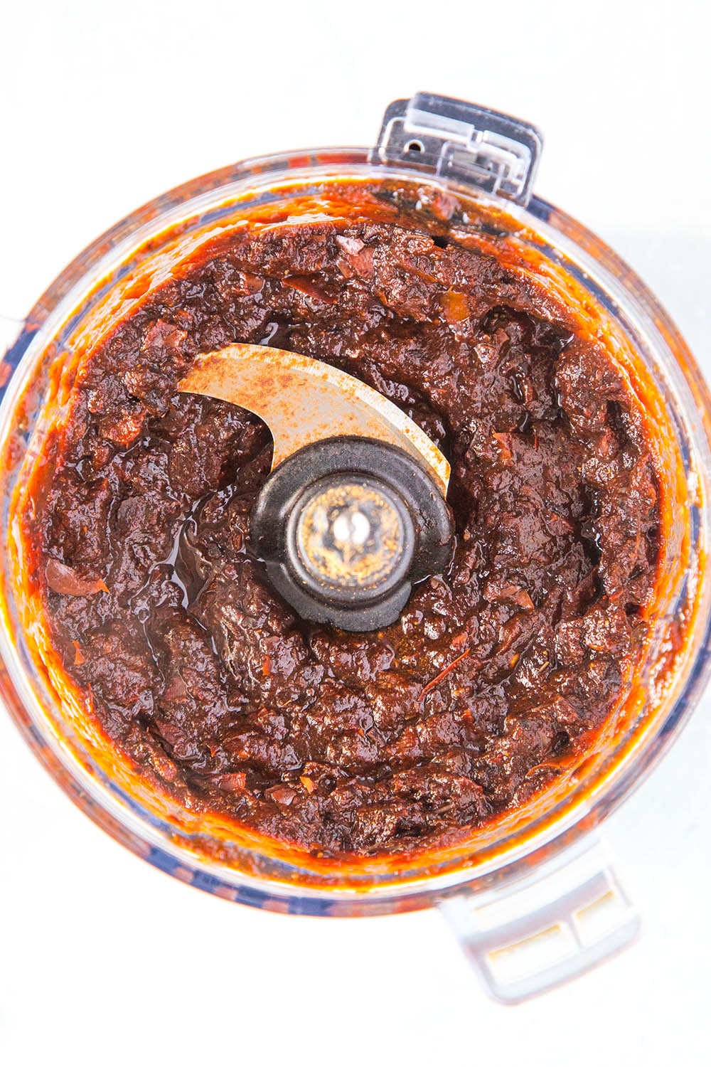 Making the chili paste for our Texas chili