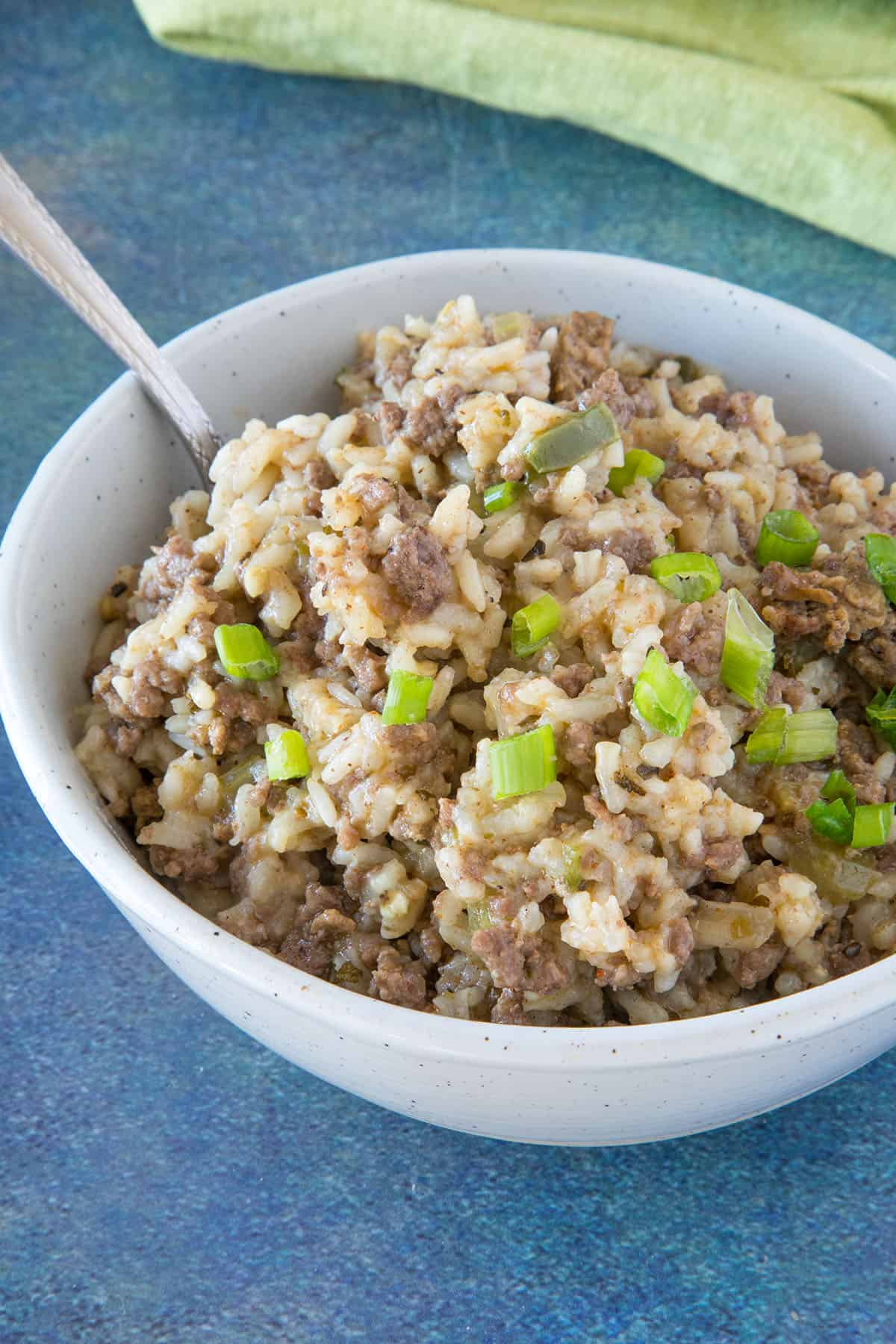 Dirty Rice in a bowl