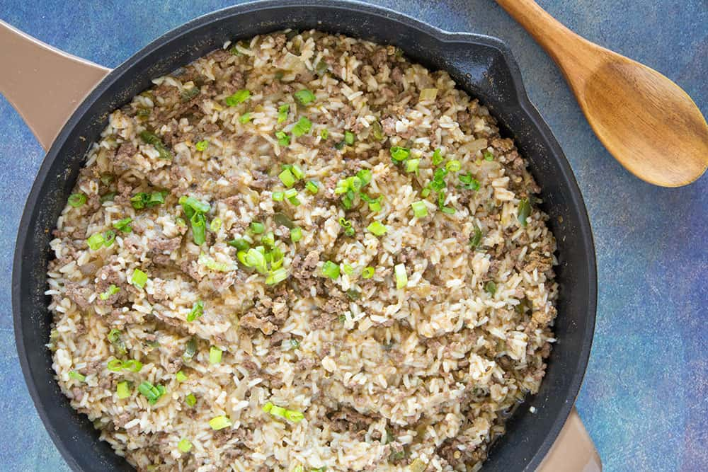 Dirty Rice in a pan
