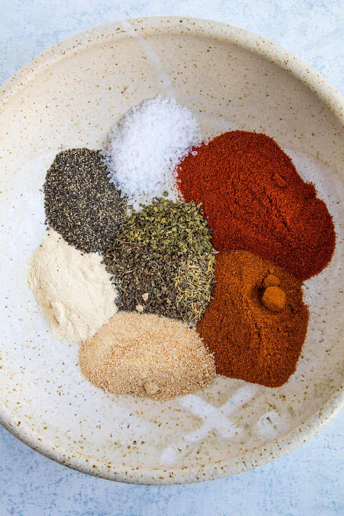 All of the ingredients in my Homemade Blackening Seasoning Recipe