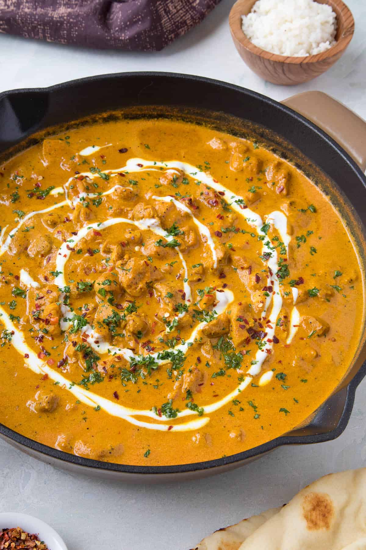 Butter Chicken in a pan