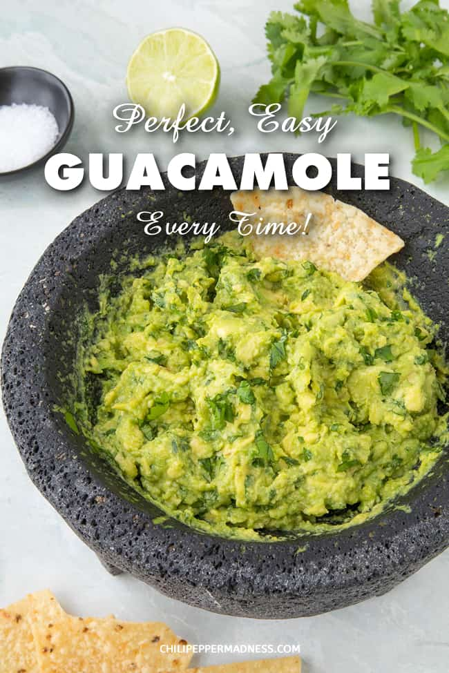Easy Perfect Homemade Guacamole - Every Time