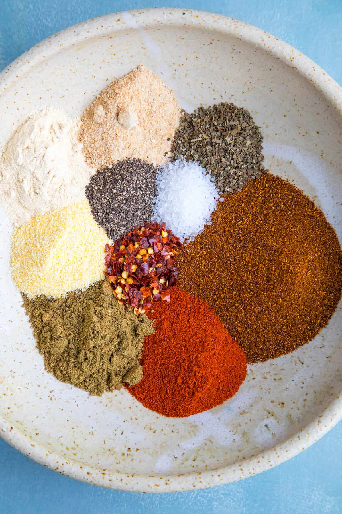 All of my Homemade Taco Seasoning Recipe ingredients in a bowl