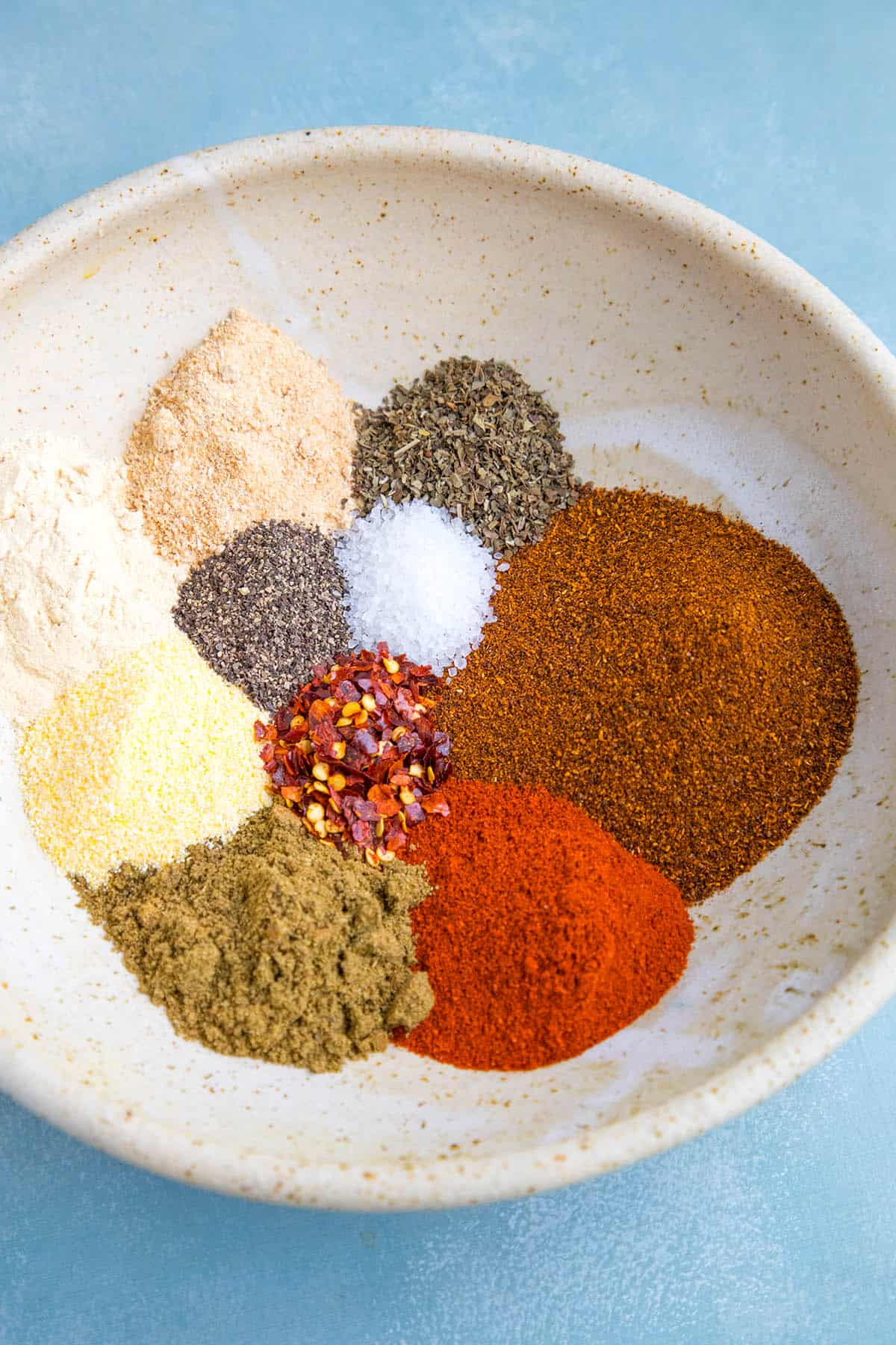 My Homemade Taco Seasoning Recipe ingredients in a bowl