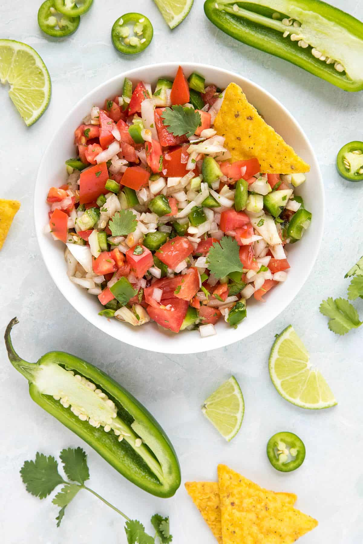 Vibrant, colorful Pico de Gallo in a bowl